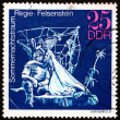Stock Photo: Postage stamp GDR 1973 Midsummer Marriage, Performance