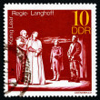 Stock Photo: Postage stamp GDR 1973 King Lear, Performance