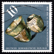 Postage stamp GDR 1976 Vessels, c. 3000 B.C. — Stock Photo #40233857