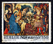 Postage stamp Italy 1970 Adoration of the Kings — Stock Photo