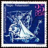 Postage stamp GDR 1973 Midsummer Marriage, Performance — Stock Photo