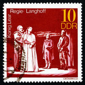 Postage stamp GDR 1973 King Lear, Performance — Stock Photo