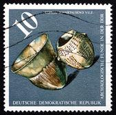Selo postal gdr 1976 navios, c. 3000 a.c. — Fotografia Stock