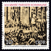 Postage stamp GDR 1971 Proclamation of the Paris Commune — Stock Photo