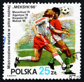 Posta pulu polonya 1986 futbol oyuncu eylemi — Stok fotoğraf