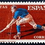 Postage stamp Spain 1960 Hockey on Roller Skates — Stock Photo