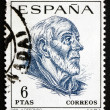 ストック写真: Postage stamp Spain 1967 St. Ildefonso, Scholar and Theologian