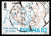 Postage stamp Spain 1980 Soccer Players — Stock Photo