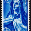 Stock Photo: Postage stamp Spain 1967 St. Theresa, by Velazquez