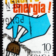Stock Photo: Postage stamp Spain 1979 Hand Pulling Plug