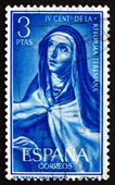Postage stamp Spain 1967 St. Theresa, by Velazquez — Stock Photo