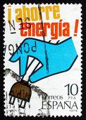 Frimärke spanien 1979 hand dra plug — Stockfoto