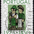 Postage stamp Portugal 1975 Soldier as Farmer — Stock Photo