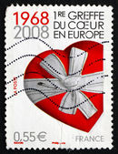 Postage stamp France 2008 Heart Gift — Stock Photo