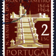Postage stamp Portugal 1964 Mt. Sameiro Church — Stock Photo