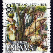 Stock Photo: Postage stamp Spain 1978 Judgment of Paris, by Titian