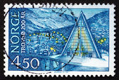Postage stamp Norway 1978 Tromso Cathedral — Stock Photo