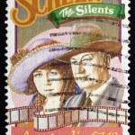 Постер, плакат: Postage stamp Australia 1989 Lottie Lyell and Raymond Longford