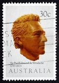 邮票澳大利亚 1983年保罗 · 埃德蒙德探秘、 资源管理器 — 图库照片