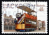 Postage stamp Australia 1989 Double-deck Electric Tram, Hobart — Stock Photo
