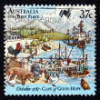 Postage stamp Australia 1987 First Fleet at Cape of Good Hope — Stock Photo