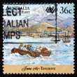 Postage stamp Australi1987 First Fleet at Tenerife — Stock Photo #40710655
