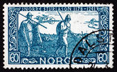 Postage stamp Norway 1941 Before Battle of Stiklestad — Stock Photo
