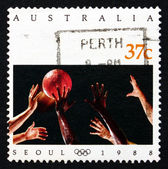 Postage stamp Australia 1988 Basketball, 1988 Summer Olympics — Stock Photo