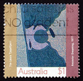 Postage stamp Australia 1988 Ancestor Dreaming, Aboriginal Paint — Stock Photo