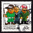 Postage stamp Australia 1988 Armed Forces, Living Together — Stock Photo