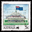 Postage stamp Australia 1988 Parliament, Living Together — Stock Photo
