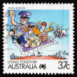 Postage stamp Australia 1988 Postal Services, Living Together — Stock Photo