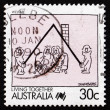 Foto de Stock  : Postage stamp Australi1988 Welfare, Living Together