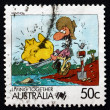 Postage stamp Australia 1988 Mining, Living Together — Stock Photo