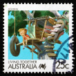 Postage stamp Australia 1988 Housing, Living Together — Stock Photo