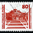 Stock Photo: Postage stamp GDR 1990 Sanssouci Palace, Potsdam, Germany