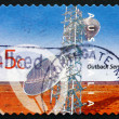 Stock Photo: Postage stamp Australi2001 Telecommunications, Outback Service