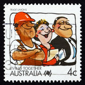 Postage stamp Australia 1988 Trade Unions, Living Together — Stock Photo