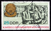 Postage stamp GDR 1967 Masters of Tomorrow Fair — Stock Photo