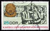 Postage stamp GDR 1967 Masters of Tomorrow Fair — Stock Photo