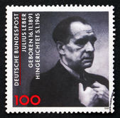Postage stamp Germany 1991 Julius Leber, Politician — Stock Photo