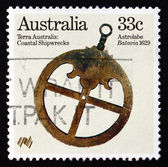Postage stamp Australia 1985 Astrolabe from Batavia, 1629 — Stock Photo