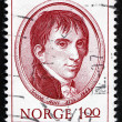 Stock Photo: Postage stamp Norway 1973 Jacob Aall, Politician