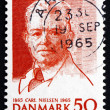 Stock Photo: Postage stamp Denmark 1965 Carl Nielsen, Composer