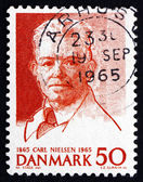 Postage stamp Denmark 1965 Carl Nielsen, Composer — Stock Photo