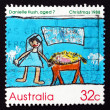 Postage stamp Australia 1988 Nativity Scene, Christmas — Stock Photo