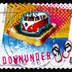 Postage stamp Australia 2001 Down Under, by Men at Work — Stock Photo #41216397