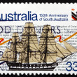 Postage stamp Australia 1986 Sailing Ship Buffalo — Stock Photo