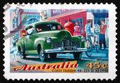Znaczek australia 1997 kolęd w galerii holden, klasyczny samochód — Zdjęcie stockowe