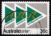 Selo postal austrália 1987 feita no emblema de campanha de austrália — Foto Stock